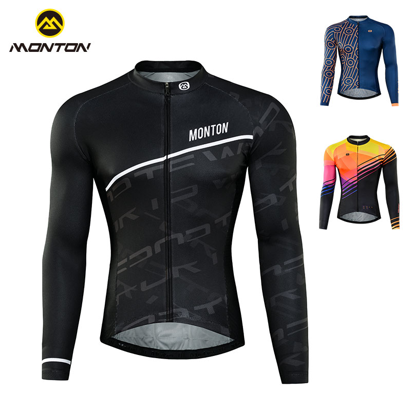 Monton cycling suit men's spring and summer road bicycle long sleeve equipment sunscreen breathable long jacket in the morning