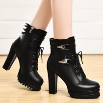 Crude with high heels in the fall and winter of England Martin for fall winter boots