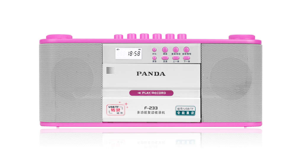 Panda F-233 tape memory card transcription repeat language repeater recorder Panda F233 learning machine