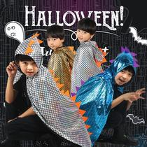 Halloween Childrens costume show costume masquerade ball cosplay dinosaur clothes boy hooded cloak