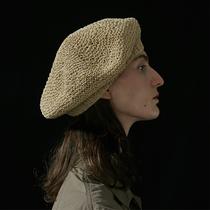 Béret tricoté à la main noir kaki la couturière 19 saisons (shame-on-you)