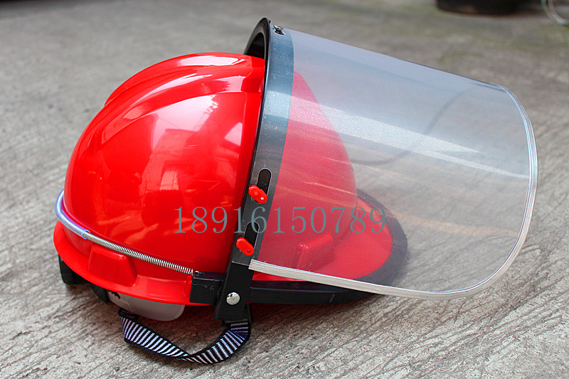 Plexiglas transparent helmet, shock-proof helmet, polishing mask, heat insulation and rain proof, 10 sets of package mails