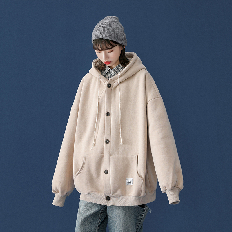 (Buy one get one) Coat girl autumn winter hundred with 2020 new black thick cotton T autumn baseball uniform