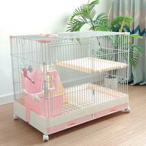 Клетка для кроликов Бытовая крытая автоматическая очистка навоза Гнездо для домашних животных Вилла королевского размера поставки кроликов Голландская свинья клетка для морской свинки