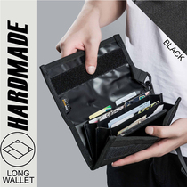 Hardmade Original Tide Brand Street function Money Clip Financial cloth sports function long wallet DuPont fabric dead fly