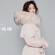 2017 South Korean women jacket long big fur collar new Korean slim size cloak tidal thickening loose