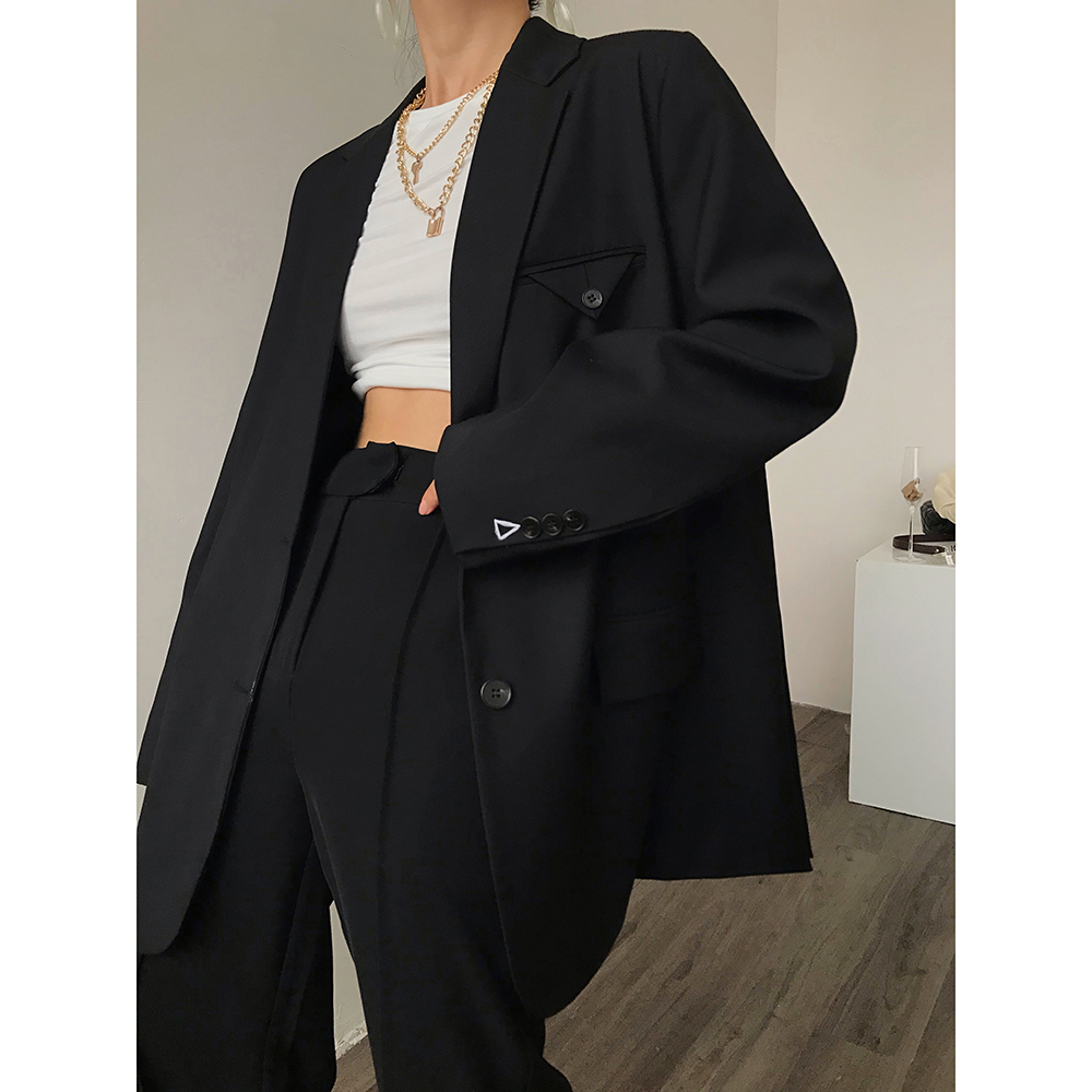 ACUP blast street feel big-name suit jacket womens spring dress 2021 new loose large version of high-end feel suit top