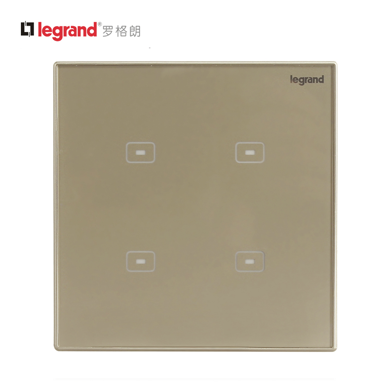 TCL Legrand switch socket official code Milan golden touch switch with LED flat switch Type 86