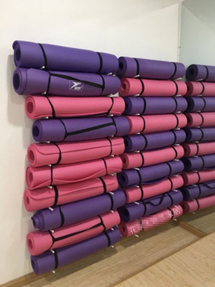 Yoga mat collection layer shelf multi-layer rack equipment rod yoga column foam shaft massage rod roller placement finishing rack