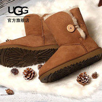 UGG Autumn Winter Womens Snow Boots Water-proof Anti-fouling Coating Classic Belle Button Boots 1016422