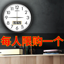 Clock 錶 clock living room fashion creative clock wall simple wall home hole-free wall electronic quartz clock