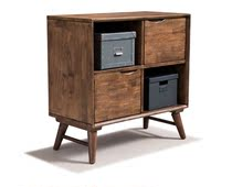 Malaysia original imported solid wood bucket cabinet storage cabinet simple modern dining cabinet living room with drawer low cabinet storage
