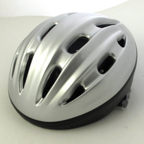 Silver/Black Roller Skating Bicycle Riding Helmet V12 Large/Medium/Small Size