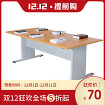 Steel and wood Library reading table Fire Panel school Reading Room combination table and Chair desk table training table