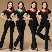 Willow Charm Latin Dance practice set autumn new thin belt skirt dance dress square Dance clothing adult practice Suit