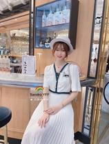 (Чан Тай Франция)Сандро 20 весна лето пузырь с коротким рукавом плиссированное платье 2 цвета SFPRO00944 CR