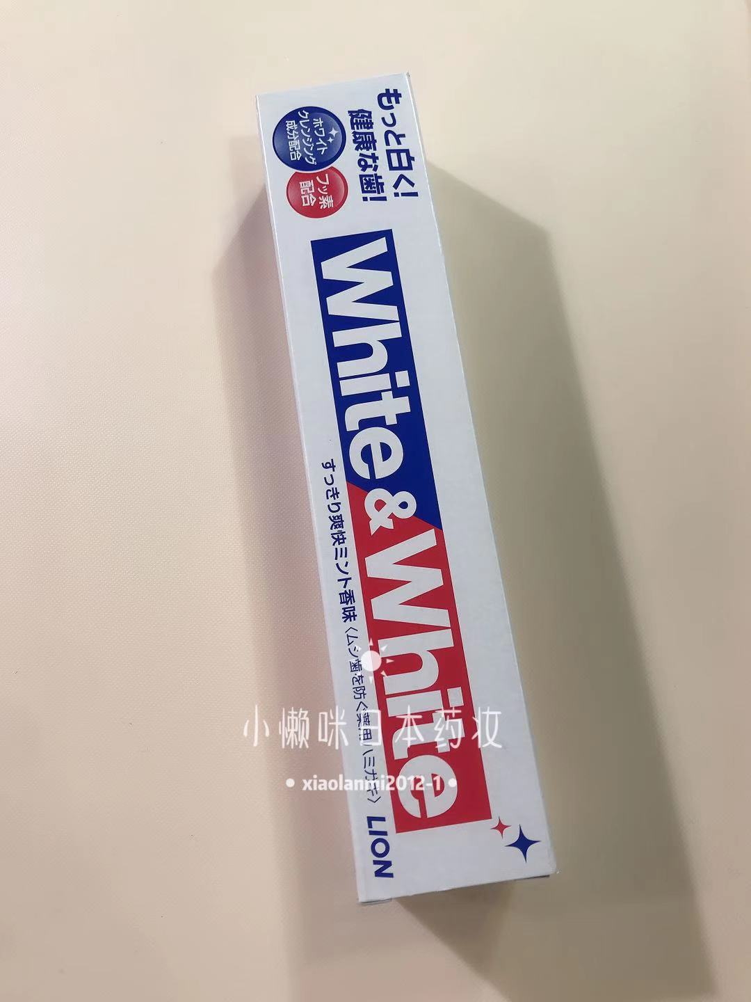 Spot Japanese LION Lion King White Toothpaste WHITE removes tooth stains fresh breath 150g whitening