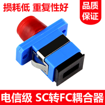New fiber Adapter FC-SC fiber Flange square Round head coupler FC-SC adapter Telecom level
