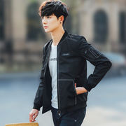 2017 new Korean men's winter coat jacket coat handsome male trend in spring and autumn with thick cashmere clothes
