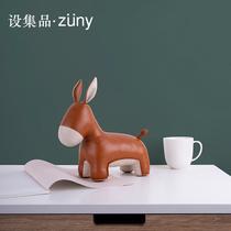 День святого Валентина подруга подарок на день рождения подарок Zuny животных Книга блок творческие украшения ручной работы кожа кукла слон