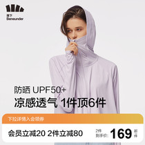 Under the banana shawl sunscreen clothing women summer beach riding outdoor UV protection Thin Ice Silk breathable professional sunscreen clothing