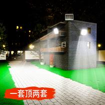 太阳能户外灯新款一拖二超亮大功率防水庭院灯家用室内照明灯路灯