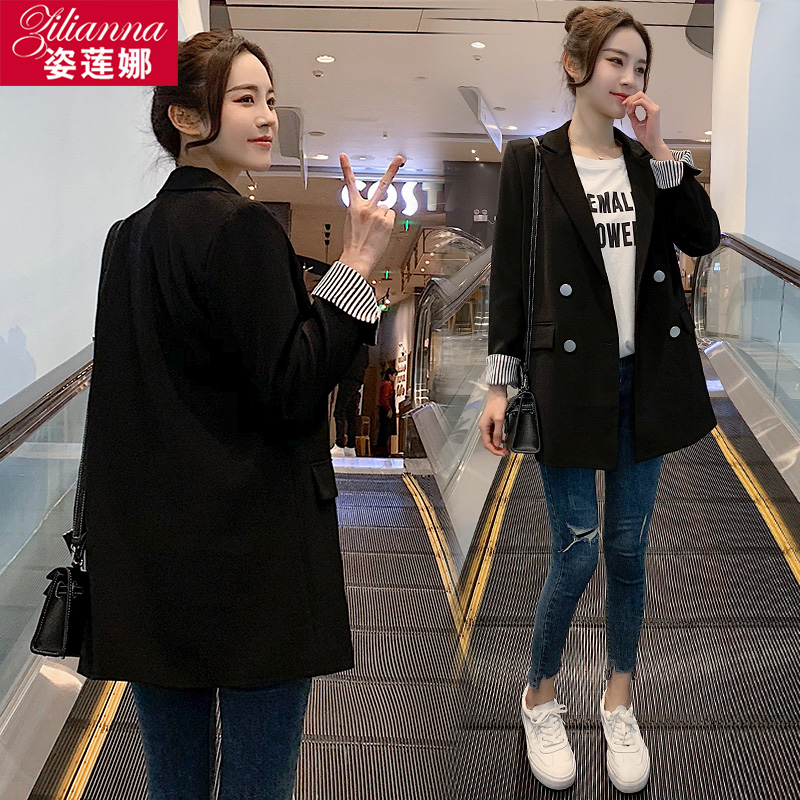 Casual black short small blazer women small spring and autumn thin section 2021 spring and summer new suit women top