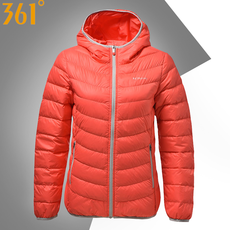 361 down jacket female 2018 autumn and winter new 361 degree women's jacket windproof warm sportswear comfortable cotton coat