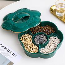 Европейская тарелка сухофруктов домашняя гостиная роскошная творческая американская роскошь фруктовая тарелка конфета коробка журнальный столик украшения набор