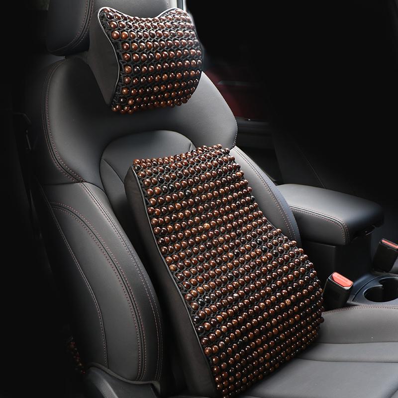 Car waist guard car with back waist cushion summer breathable hand-made Bodhi seat drivers seat bead cushion