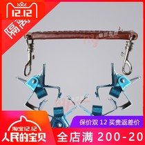 Oil painting frame separation clip isolation clip stainless steel leather handle 4 clip oil painting separator