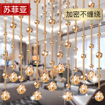 Crystal bead curtain partition window bead curtain partition living room Xuanguan new decorative home dressing room feng shui curtain