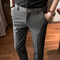 The summer slim Little Foot Han version of the casual business suit trousers