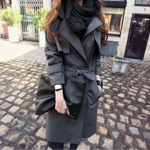 2021 Spring and Autumn new small man trench coat female long style English loose gray high end trench coat