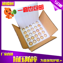Egg express special shock-proof packaging gift box 50100 pieces containing universal pearl cotton eggs託 foam box