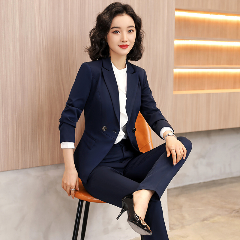 High-end professional suit fashion temperament goddess Fan suit Yinglun style suit dress womens autumn and winter