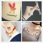 Ah ha loo original high-quality tattoo waterproof female lasting Korea cute little fresh clavicle adorable 38