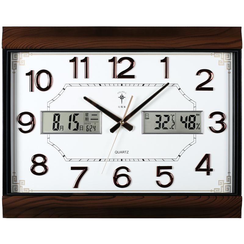 Polaris permainal calendar large wall clock Chinese living room electronic calendar quartz clock silent watch fashion clock 錶