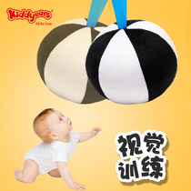 Baby vision training ball 0-3 months newborn visual pursuit black-and-white card early education toys