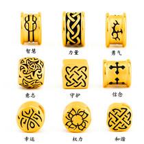 Fu Tong 3D hard gold gold transfer bead bracelet male tattoo Guardian Lu Lu Tong gold bead bead bead female pendant