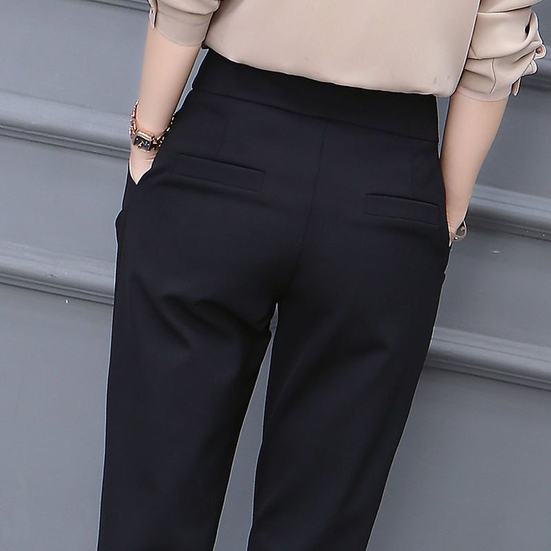 High-waisted skinny autumn dress womens pants 2020 new casual straight loose-fitting Harlan pants plus velvet plus thick 蔔 pants