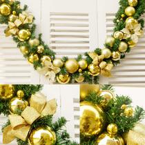 Golden Christmas ball decoration rattan 2.7m 270CM luxury encrypted hotel mall Christmas decoration wreath