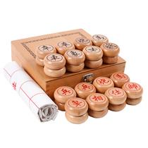 Бутик древесины китайский шахматный набор бутик березы большая шахматная коробка кожаная шахматная доска родителей-детей игры