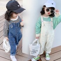 2020 девушка весенняя одежда новая мода корейская версия дети джинсовые брюки женский ребенок дети длинные брюки
