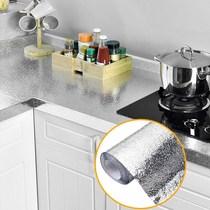 Auto-adhésif étanche cuisine anti-huile autocollants haute-température poêle avec armoires fumées stickers muraux résistant à lhumidité en aluminium feuille feuille feuille