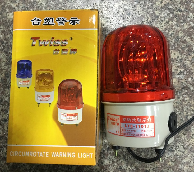 Authentic table plastic Twiss LTE-1101J revolving warning lamp Gangting lamp machine tool warning lamp with sound