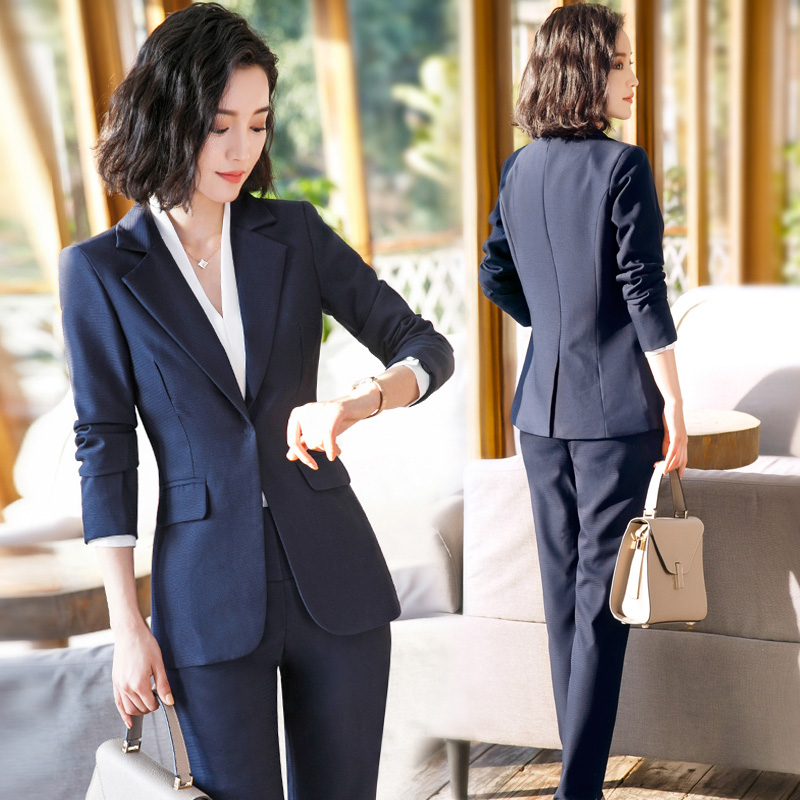 Workwear suit suit women 2020 autumn and winter new fashion temperament famous high-end business dress