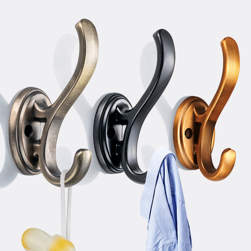 Into the door shoe cabinet wardrobe clothes hook wall hanging wall metal coat hook hanging clothes hook black off a single punch-free hole