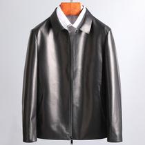 Элитная дегустация импортная овечья кожа лацкан бизнес повседневная короткая кожаная куртка Куртка из натуральной кожи мужская