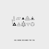 Xinsu orange tattoo paste waterproof men and women long-lasting simple geometric triangle creative couple small fresh finger small picture